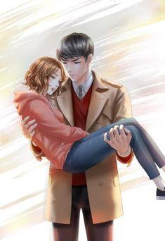 전화와 나-로맨스(완결) : 네이버 블로그 Cute Couple Cartoon, Anime Love Couple, Romantic Anime Couples, Cute Anime Couples, Manga Cute, Cute Anime Pics, Anime Cupples, Anime Guys, Manga Comics