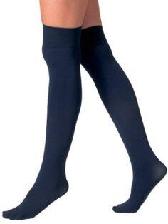 Foot Traffic Natural Beige Fashion Opaque Trouser Knee High Women/'s Socks New