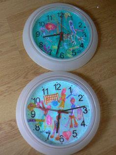 Peut-être pour un cadeau... Ikea -2€ l horloge Diy For Kids, Crafts For Kids, Cadeau Parents, Diy General, Dad Day, Fathers Day Crafts, Parent Gifts, Mother And Father, Little Gifts