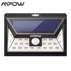 Mpow 24 LED Luces Solares Cuerpo Humano Del Sensor de Movimiento Al Aire Libre lámpara de Seguridad Inalámbrica LED Brillantes Luces de La Noche para Patio de La Cubierta jardín