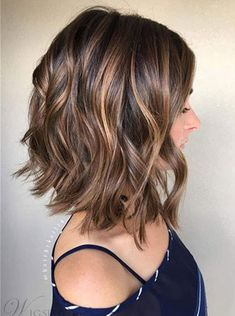 Wavy Human Hair Women Lace Front Cap Short Wigs - All For New Hairstyles Messy Bob Hairstyles, Straight Hairstyles, Hairstyle For Medium Length Hair, Medium Length Wavy Hair, Virtual Hairstyles, Haircut Medium, Lob Haircut, Hairstyles 2016, Black Hairstyles