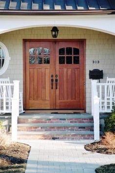 1000 images about doors on pinterest craftsman door for Small double front doors