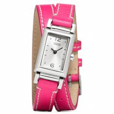 Madison Stainless Steel Wrap Watch in Fuchsia from Coach