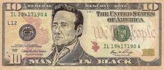 johnny cash dollar bill currency cash art