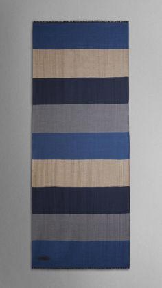 Striped Cashmere Scarf, BURBERRY LONDON