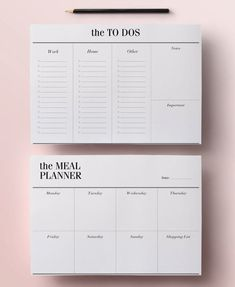 Minimal Planner Agenda Inserts - 12 Printable Planners: Blank Calendar PDF, Weekly Schedule, Daily To Do List, DIY Planner, Black & White Daily Planner Pages, Daily Planner Printable, Printable Calendar Template, Monthly Planner, Meal Planner, Meal Planning Printable, College Planner, College Tips, Blog Planner