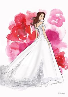 Allure Bridal to design Disney Princess Gowns Disney Belle Wedding, Disney Inspired Wedding Dresses, Belle Wedding Dresses, Wedding Dress Sketches, Country Wedding Dresses, Designer Wedding Dresses, Disney Weddings, Disney Dresses, Wedding Gowns
