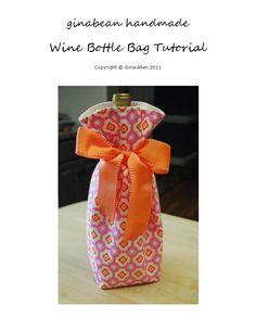 Wine Bottle Bag Tutorial.