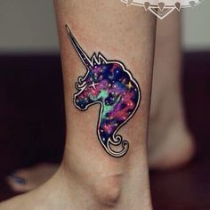 We're guessing that in order to create these unicorn tattoos the artists spent a few hours researching their old Lisa Frank notebooks. What they have created would make Lisa (if she is a real perso...