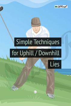 Uneven lies can be tricky. The key is to adjust before, not during your swing. golf Uphill or Downhill Slope: How to Play from Uneven Lies Ladies Golf Clubs, Girls Golf, Women Golf, Golf Putting Tips, Golf Practice, Golf Chipping, Golf Instruction, Golf Exercises, Golf Tips For Beginners