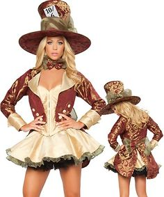 Could girlie up hat I did for Wyatt's mad hatter oufit 2010 with this jacket.. would go with pants/boots though.
