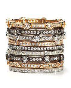 Loved stacked rings -- Crislu Micro Pave Stack Ring | Bloomingdale's