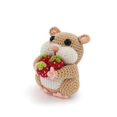 9,809 отметок «Нравится», 198 комментариев — Amigurumipatterns.net (@amigurumipatterns) в Instagram: «Where is this little hamster going off to, carrying his sweet strawberries? He's on his way to ...…»