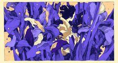 Illustration for Pietro Mascagni's opera « Iris » by Simon Prades