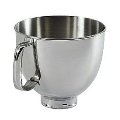 KitchenAid- -5 qt. Polished Stainless Bowl with Handle