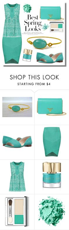 """""""Turquoise Outfit - Evangelos Bracelet"""" by evanangel ❤ liked on Polyvore featuring H&M, Prada, Louise et Cie, Tory Burch, Smith & Cult and Clinique"""