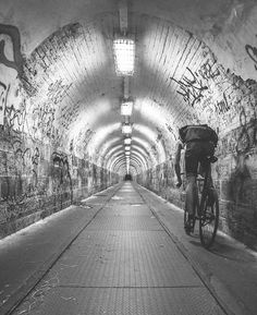 Tunnel riding, that could be fun. http://www.tumblr.com/dashboard #cycling #bike #ride