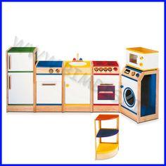 Cucina completa in legno per bambini