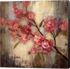 Cherry Blossom II Floral Canvas Wall Art Print by Silvia Vassileva