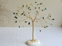 Wire tree Suncatcher Suncatcher gemstone tree sculpture