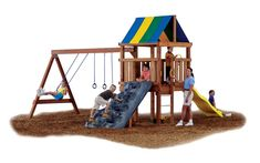Outdoor Kids Swing Set Playground Backyard Slide Playset Hardware Slide Climb