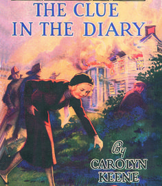 Nancy Drew: The Clue in the Diary. On a country drive, Nancy and friends happen to see a chateau become engulfed in flames. Scoping out the scene before the fire department arrives, Nancy finds two clues that appeal to her speculative character: a man fleeing from the flames and a Swedish diary.