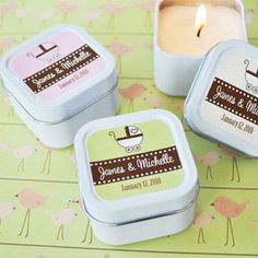 Candle Baby Shower Favors
