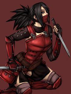 Pretty ninja girl.