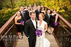 Wedding party - Fall Michigan Wedding