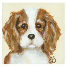 Little Buddy King Charles Doggie Canvas Reproduction from PoshTots