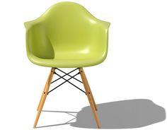 Herman Miller Eames Molded Plastic Chair Armchair DAW DowelLeg
