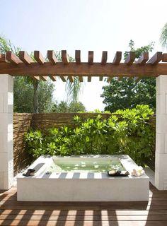 outdoor bathing2 Outdoor bathing inspirations in travel garden art with shower outdoor bath