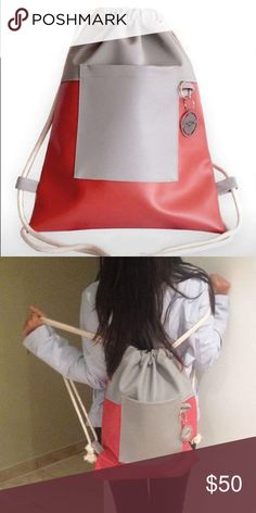 """New! Drawstring Bag / Faux leather Nox bags are made out of Faux leather and manufacturer in Lima/Peru. They are practical, comfortable and stylish. """" Exploring the city together"""". Nox Bags Bags Backpacks"""
