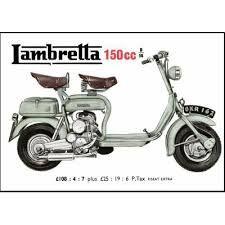 Resultado de imagem para Lambreta 1956