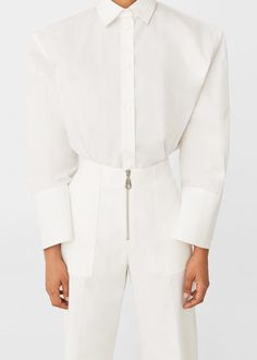 Pocket cotton trousers | MANGO