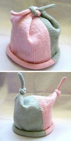 Top Knot Baby Hat Free Knitting Pattern Best Picture For Knitting crochet For Your Taste You are looking for something, and it is going to. Baby Hat Knitting Patterns Free, Baby Hats Knitting, Knitting For Kids, Free Knitting, Knitting Projects, Crochet Patterns, Crochet Hats, Free Pattern, Pattern Sewing