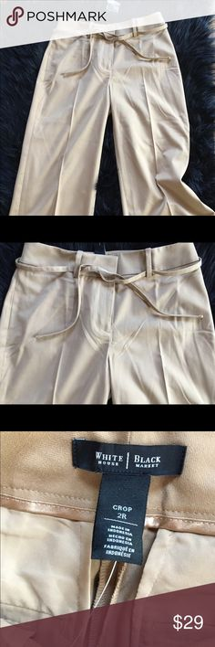 🌺NWT WHITE HOUSE BLACK MARKET TAN CROP PANTS~2R YOU WILL ❤LOVE❤THESE FLATTERING, FASHIONABLE CROP PANTS FOR A FRACTION OF RETAIL BY WHITE HOUSE BLACK MARKET White House Black Market Pants Ankle & Cropped