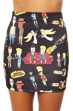 The Beavis and Butthead Skirt in Black  this is hardcore