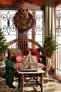 Log cabin the ideal for rustic Christmas decor