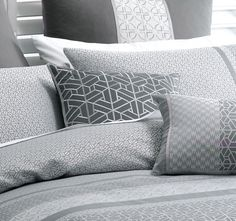 Deco Takara 43x43cm Filled Cushion Charcoal Quilt Cover, Charcoal, Cushions, Throw Pillows, Deco, Home, Toss Pillows, Toss Pillows, Pillows