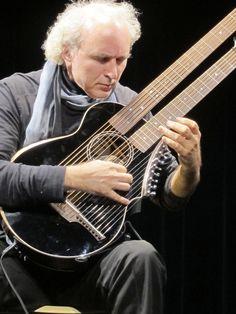 John Doan with Brunner Harp guitar