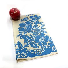 Vintage Linen Towel Dish Blue & White Home Kitchen by CoconutRoad via http://MyClassicJewelry.com/shop