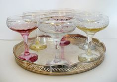 New favorite thing: champagne coupes. Champagne Images, Vintage Champagne Glasses, Champagne Coupe Glasses, Champagne Saucers, Champagne Party, Champagne Flutes, Art Nouveau Design, Perfume, Luxury Blog