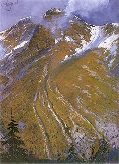 Leon Jan Wyczolkowski (1852-1936) - Blizzard at the Foot of the Monk