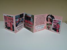 Angie, one of the breast cancer survivors we met when the pink fire trucks were here, sent us this card documenting her visit. It was a touching experience and now we'll always remember it! Breast Cancer Survivor, Breast Cancer Awareness, Especially For You, Local Women, Fire Trucks, Firefighter, Cards, Pink, Fire Engine
