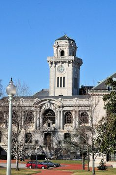 US Naval Academy's Mahan Hall Clock Tower in Annapolis, Maryland