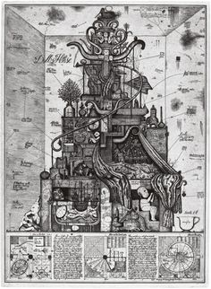 """Between 1978 and 1993, Brodsky and Utkivn gave rise to a new genre of architecture called """"Paper Architecture"""", also known as visionary architecture, because it could only be realized on paper. Their renderings are filled with an excess of buildings, arches, domes and other three-dimensional urban structures."""