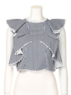 Scalloped embroidery blouse / snidel