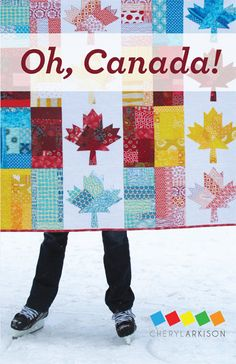 Oh Canada Quilt Pattern PDF by CherylArkison on Etsy - this pattern is sooo fun! And I'm not even Canadian!