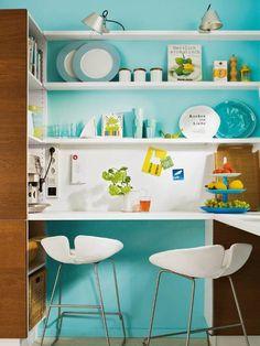 Blue kitchen love